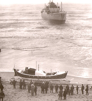 Historische reddingboot Jhr. H.J. Ortt